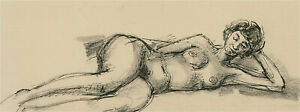 Peter Collins ARCA - Contemporary Pen and Ink Drawing, Nude Study XIII