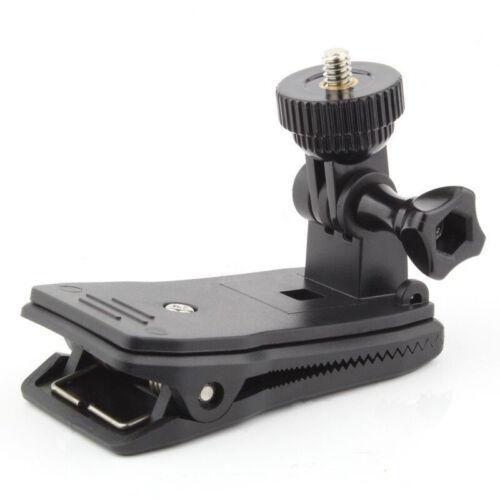 """Clip Giratorio Mochila Sombrero se monta 360 con 1//4/"""" Mini Adaptador para GoPro Xiaoyi Sony M"""
