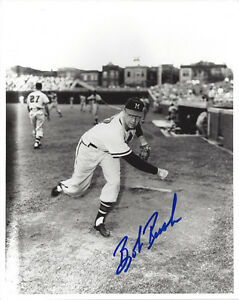 1958-BRAVES-Bob-Rush-signed-8x10-photo-AUTO-Autographed-Milwaukee-D