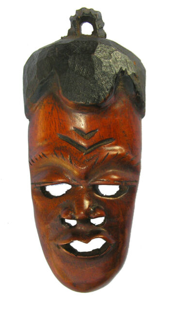 Beautiful Hand Carved African Mask in Mahogany Wood
