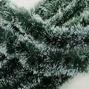 200cm-6-5ft-x-8-5cm-Deluxe-Pine-Christmas-Garland-Decoration-Plain-Green