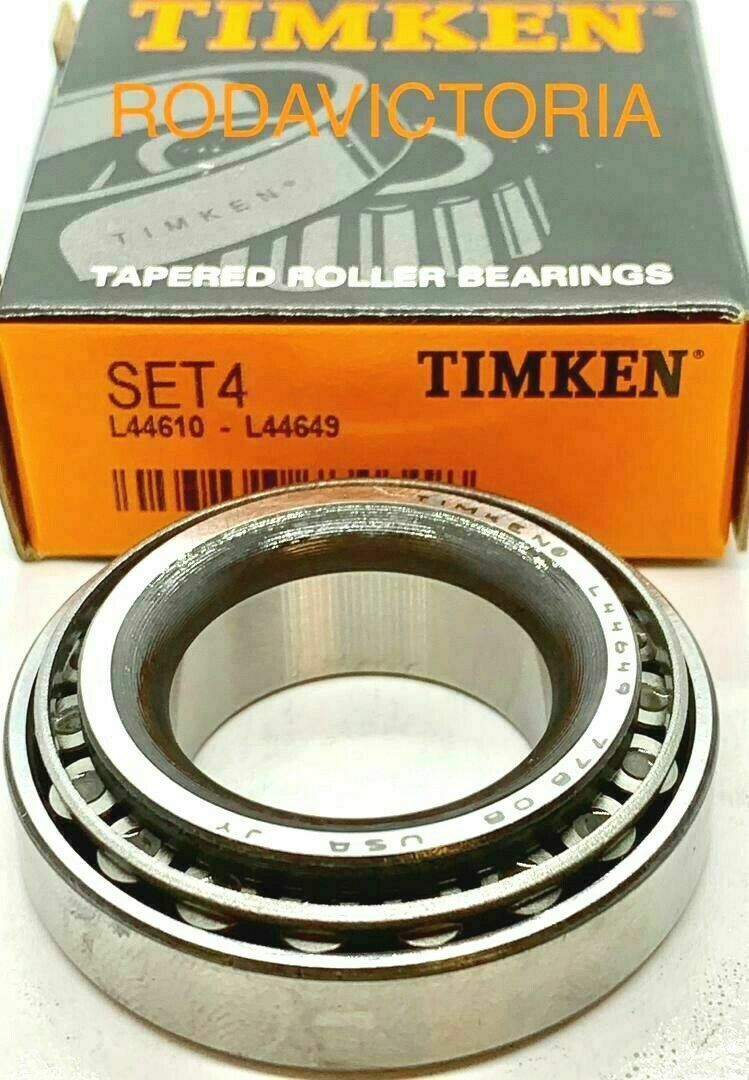 Timken Set 4 L44649 /& L44610 ONE Cup /&  ONE Cone Set free shipping Set4,