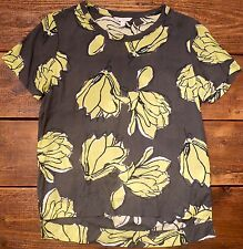 Gap Womens Light Floral Top Grey Green Cotton Blend (Size XS) GREAT CONDITION