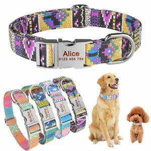 Free-Engraved-Name-Personalized-Dog-Collar-Nylon-Small-Medium-Large-Dogs-Puppy