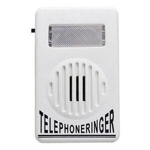 Amplifier-Strobe-Light-Flasher-Bell-Extra-Loud-Telephone-Ringer-Phone-Ringer-New