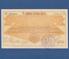 SCHMALLENBERG 5 Millionen Mark 1923  fast KASSENFRISCH / aUNC