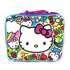 Sanrio Hello Kitty Rainbow Party School Lunch Bag : Hello Kitty