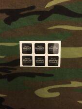 x6 White Bamford Optonic bite alarm stickers/Decals