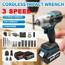 3 Speed 12 Cordless Brushless Electric Impact Wrench 5 In 1 With 2 Batteries