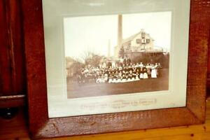 "Leather Factory Staff 1880 Eupen/belgium Photo In Large Crocodile Frame 29x25"" Antiques"