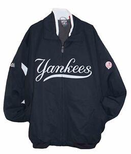 watch e2623 2c287 Details about New York YANKEES MLB Majestic Authentic Premier Dugout Jacket  MENS 4XL