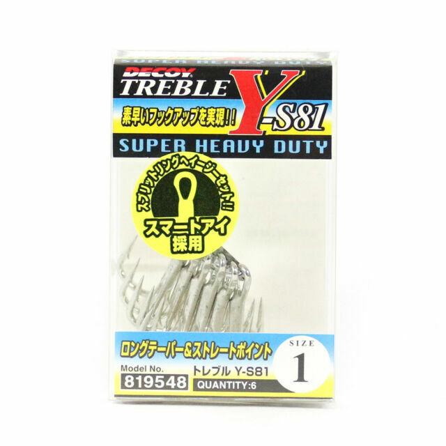 Decoy Y-S21BT Treble Hook Blade Treble Hooks Size 6 3859