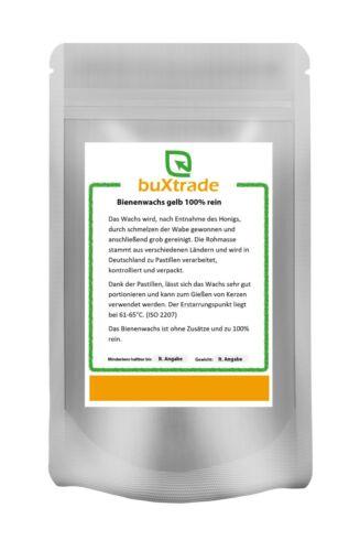 Cera de abejavelapastillas100/% purocera500 G