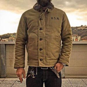 3936beac3ac 2019 NON STOCK Khaki N-1 Deck Jacket Vintage USN Military Uniform ...