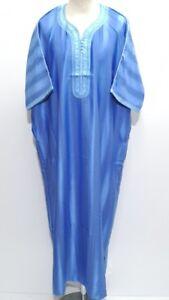 Men Moroccan polycotton short sleeve thobe//jubba//kandora.dishdash.sizes 58,60/&62