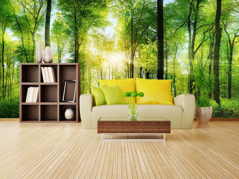 3D Sonnenschein-Wald 83 Tapete Wandgemälde Tapete Tapeten Bild Familie DE Summer