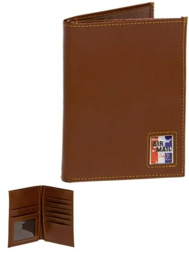 Brown Leather Air Mail Passport Wallet