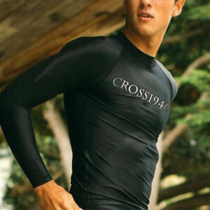 US-Mens-UV-Protection-Long-Sleeve-Rash-Guard-Shirt-Top-Fast-Dry-Swim-UPF40