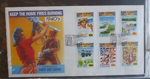 1993-NEW-ZEALAND-IN-THE-1940s-WAR-TIME-SET-OF-6-STAMPS-FDC-FIRST-DAY-COVER