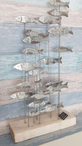 School of fish Shoeless Joe vertical silver Seaside large Coastal