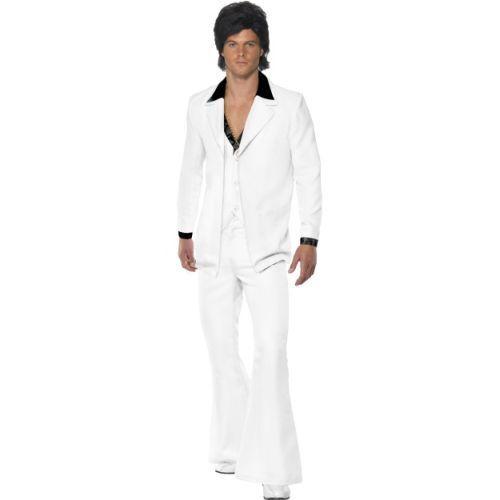 Smi Karneval Herren Kostüm Gentleman 70er Jahre weiß Anzug