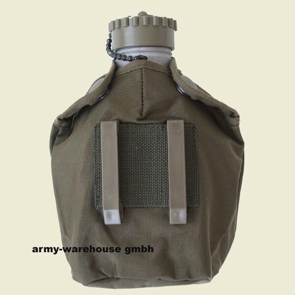 Bundesheer Feldflasche ALU gebr. + M75 Hülle oliv, neu, ÖBH, BH, Austrian Army