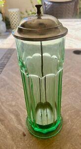 Depression Era Green Straw Jar - Original!