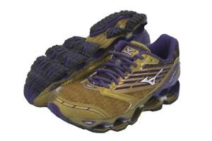 New-Mizuno-Wave-Prophecy-5-Running-Shoes-Women-039-s-Size-8-Gold-Purple-Last-Pair