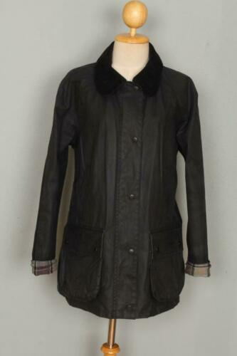 Womens BARBOUR Beadnell Waxed Jacket Black Size US