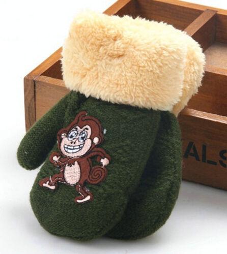 Cute Cartoon Mittens Toddler Newborn Baby Kids Girl Boy Winter Warm Gloves 1-6T