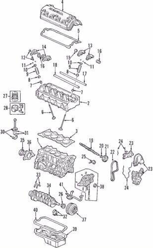 Honda Civic FRV D14 D16 D17 CYLINDER HEAD COVER GASKET OEM NEW 2001-05 Genuine