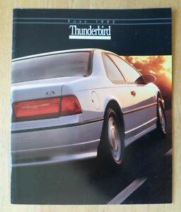 Ford Thunderbird Orig 1992 Usa Mkt Sales Brochure Catalogue Sport