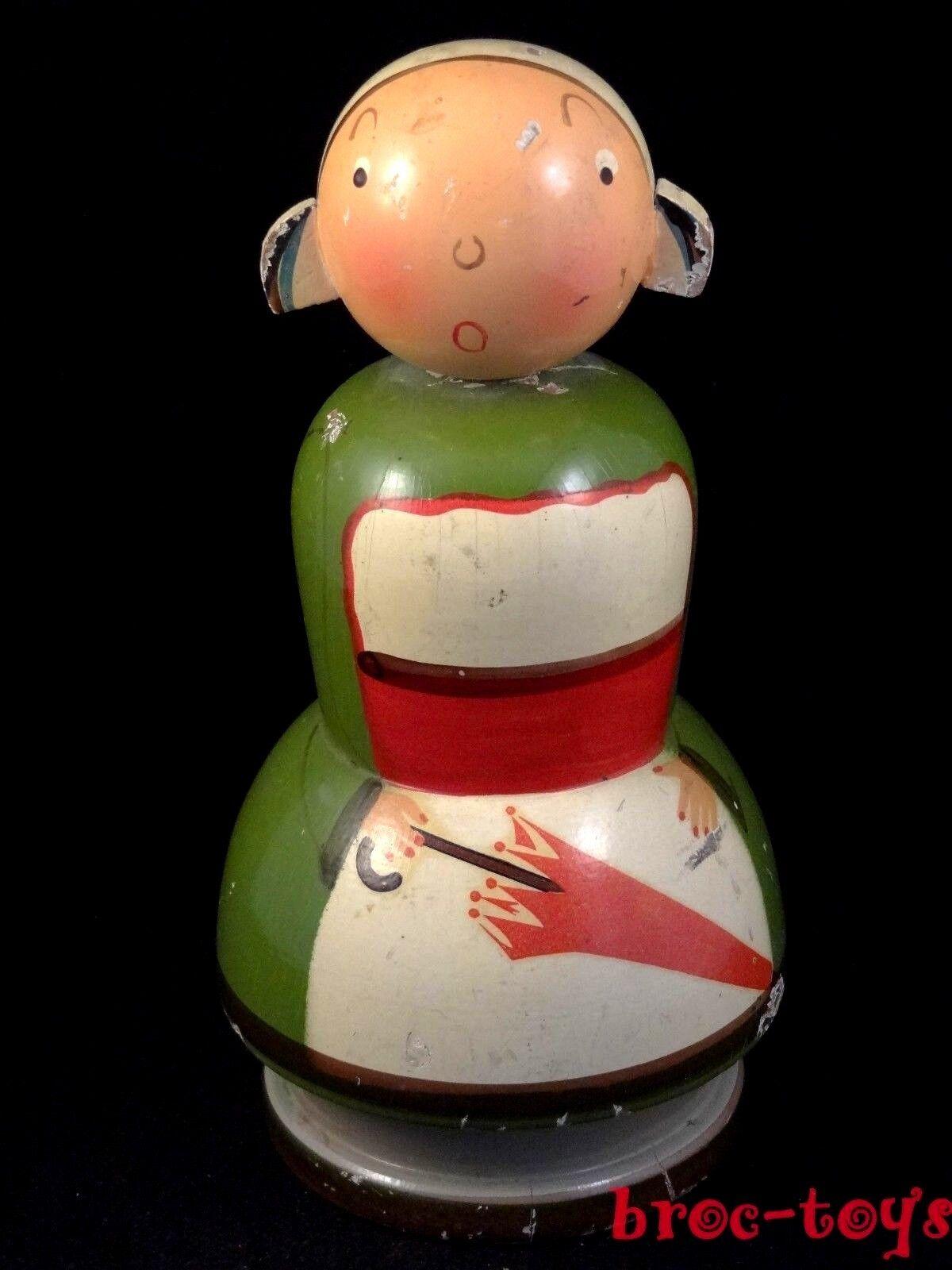 Noël coloré Ancien jouet tirelire enfant BD BD BD bécassine bois années 20/30 9f45ff