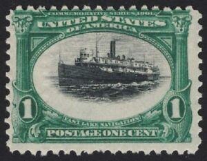 "United States Trend Mark Us # 294 *mint Og H* { ""very High Ship"" Var } Vignette Shifted Up Error Of 1901 Discounts Price Stamps"