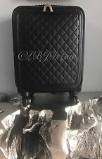 """NWT CHANEL QUILT LEATHER TROLLEY ROLLING SPINNER SUITCASE Carry On Tote Bag 21"""""""