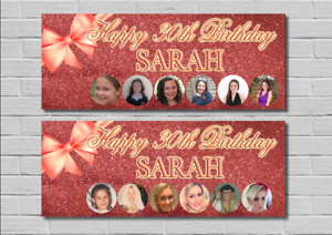 Birthday-Party-Banner-Decoration-Rose-Gold-Glitter-Bow-18th-21st-30th-40th-50th
