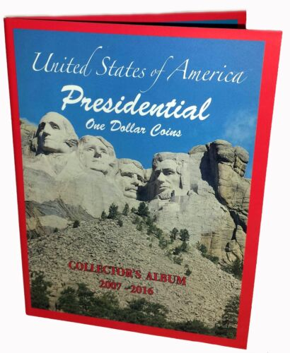 BOOK 2007-2016 Lot of 8 US PRESIDENTIAL $1 ONE DOLLAR COINS COLLECTOR/'S ALBUM