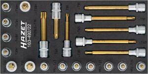 HAZET Torx Destornillador Set Llaves Tubulares 22tlg 163-492/22