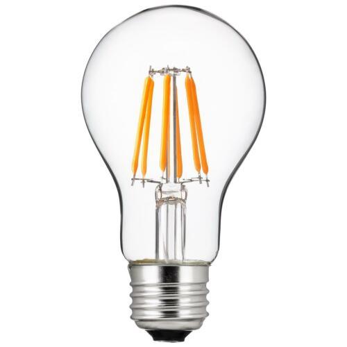 Dimmable 6-Pack Sunlite LED Edison-Style A19 Bulb 2700K Warm White 6 Watt