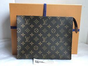 309a11ea3764 Auth New Louis Vuitton Monogram Canvas Toiletry Pouch 26 Bag Clutch ...