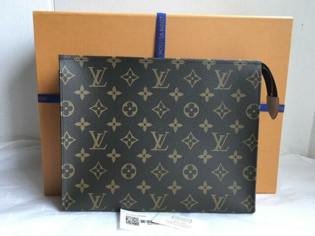 abe0fc1d22a6 Auth New Louis Vuitton Monogram Canvas Toiletry Pouch 26 Bag Clutch 2018