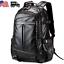 US Mens New Large Black Waterproof Backpack Laptop School Bag Travel Bag