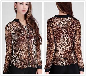 Women-039-s-Sexy-Leopard-Print-Casual-Loose-Long-Sleeve-Shirt-Tops-Blouse-S-XXXL