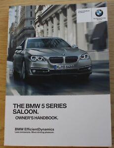 genuine bmw 5 series f10 saloon handbook owners manual 2013 2017 rh ebay ie bmw f10 repair manual pdf bmw f10 user manual