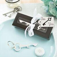 50 Classy Silver Metal Key Bottle Opener Wedding Shower Gift Favors on sale