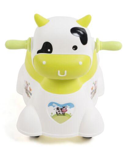 Keraiz ® musical de plástico con forma de animales bebé Silla con orinal con ruedas