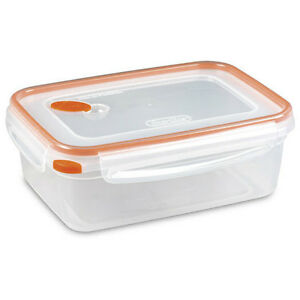Delicieux Image Is Loading Sterilite 03221106 UltraSeal Rectangle Food Storage  Container Orange
