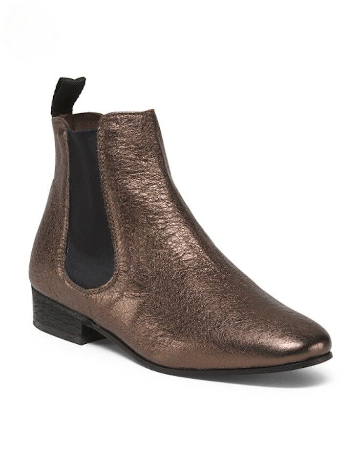 BOEMOS Chelsea Leather Ankle Boot Booties Made In Italy US 6 US 7