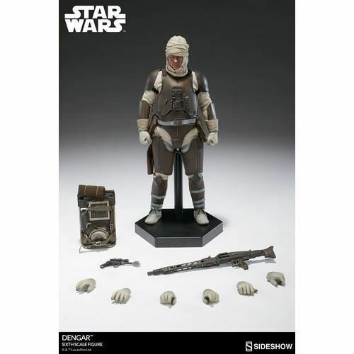1/6 Scale 12  Star Wars Dengar Bounty Hunter Action Figure Sideshow Collectibles