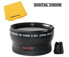 52mm Wide Angle Lens For Panasonic DMC-FZ200 DMC-FZ150 DMC-FZ100 FZ48 FZ45 FZ40